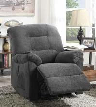Mabel collection charcoal textured chenille fabric upholstered power lift recliner chair