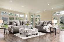 SM5142GY 2 pc Bonaventura gray plush microfiber sofa and love seat set