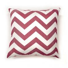 "PL6022RDS Set of 2 zoe red chevron colored fabric 18"" x 18"" throw pillows"
