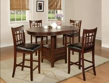 CM2795T-4260 5 pc Winston porter renshaw hartwell brown finish wood counter height oval dining table set