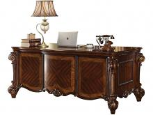 Vendome collection cherry finish wood detailed carvings ornate office desk with claw feet design