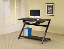 800222 Wildon home rocksprings mallet black and chrome finish metal frame computer desk