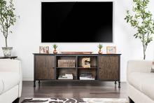 """CM5822-TV-72 Broadland industrial style medium weathered oak finish wood 72"""" tv console"""
