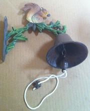 Cast iron squirrel bell  wall hanger
