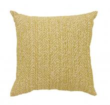 "Set of 2 gail collection yellow colored fabric 18"" x 18"" throw pillows"