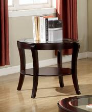 CM4488E Finley espresso finish wood beveled glass top end table