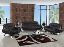 Global United 405BR-2PC 2 pc Shirley II modern style brown genuine leather sofa and love seat set