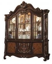Versailles collection cherry oak finish wood dining Buffet and Hutch china cabinet