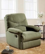 Acme 00630 Arcadia sage microfiber fabric recliner chair with overstuffed seats and arms