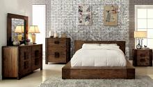 CM7628 5 pc janeiro ii transitional style rustic natural tone finish wood queen bed set