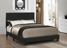 300558Q Muave collection black leatherette upholstery queen size bed set