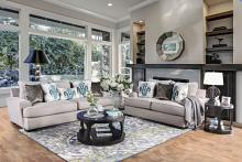 SM1223 2 pc Renesmee gray chenille fabric sofa and love seat