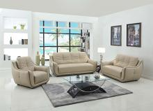 2088BEI-2PC 2 pc Orren ellis sampson modern style beige genuine leather sofa and love seat set