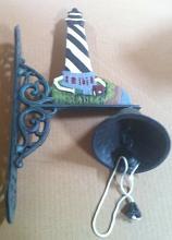 Cast iron light house wall w/bell hanger
