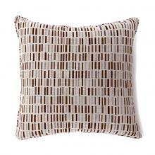 "PL6004BRS Set of 2 pianno brown colored fabric 18"" x 18"" throw pillows"