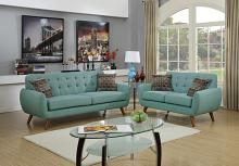 Poundex F6914 2 pc Langley street wooten laguna faux linen fabric sofa and love seat set