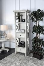 CM-AC278 Georgia antique white finish wood bookcase shelf unit