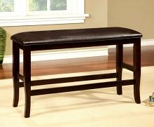 CM3024PBN Woodside two tone dark cherry finish wood counter height dining bench