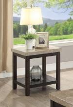 CM4861E Calgary dark walnut finish wood marble top end table