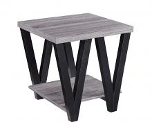 Wildon collection antique grey and black finish wood end table