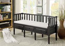Ballinasloe collection espresso finish wood storage entry bedroom bench
