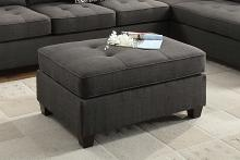 Jackson collection ash black dorris fabric upholstered ottoman