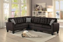 Home Elegance 8202CH 2 pc sinclair chocolate fabric reversible sectional sofa set