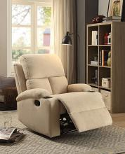 Acme 59551 Rosia beige linen fabric recliner chair with cup holders