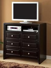 CM7058TV-42 Winsor contemporary style espresso finish wood tv console media chest