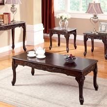 CM4914CH-3PC 3 pc cheshire dark cherry finish wood coffee and end table set