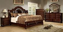 5 pc flandreau collection brown cherry finish wood queen bedroom set