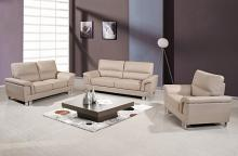 9412BEI-2PC 2 pc Orren ellis catalina modern style beige leather gel sofa and love seat set