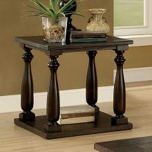 CM4420E Luann dark walnut finish wood end table