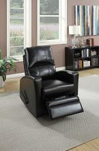 Poundex F1533 Collette black faux leather swivel recliner chair