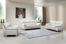 2 pc Xenia II collection modern style light grey leather gel upholstered sofa and love seat set
