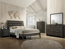 Crown Mark B4720 5 pc Marsdell collection grey finish wood slatted headboard queen bedroom set