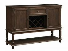 107415 Parkins rustic espresso finish wood wine rack side server dining buffet console