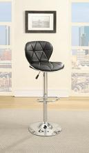 Poundex F1550 Set of 2 kossini contemporary style black diamond pattern faux leather adjustable swivel bar stool