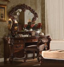 3 pc vendome collection cherry finish wood bedroom make up vanity