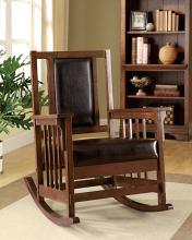 CM-AC6580 Apple valley padded leatherette seat in espresso wood finish mission style rocking chair