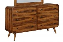 Coaster 205133 Robyn collection dark walnut finish wood mid century modern dresser