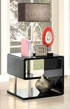 CM4057BK-E Ninove I black finish wood modern twist end table
