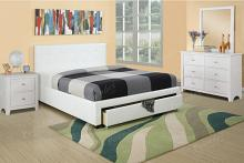 4 pc patricia ii collection white faux leather upholstered and padded queen bedroom set