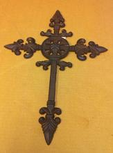 Cast iron cross wall hanger