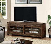 "CM5233-TV Hopkins dark walnut finish wood 72"" tv console media stand"