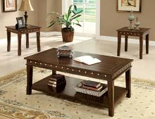 CM4630-3PK 3 pc Fenwick walnut finish wood coffee and end table set