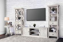 CM5089-TV-60-3PC  3 pc Georgia antique white finish wood TV entertainment center