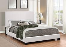 300559Q Muave white leatherette upholstery queen size bed set