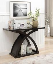 Furniture of america CM4641S Arkley espresso finish wood sofa console entry table