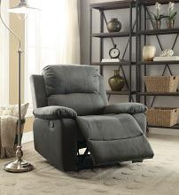 Acme 59525 Bina charcoal polished microfiber fabric recliner chair with memory foam seating